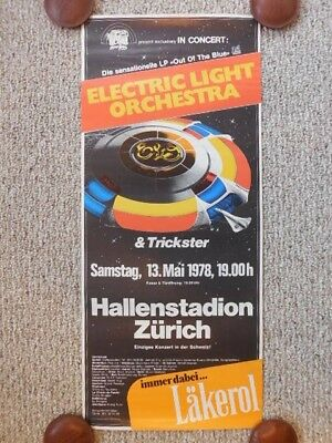 Original 1st Print Electric Light Orchestra Zurich Switzerland Concert Poster