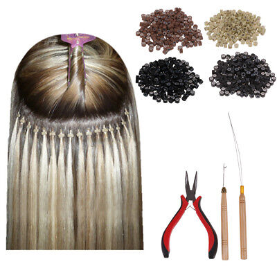 NATURAL Feather Hair Extension Pack + Craft Kit Tools Pliers Beads
