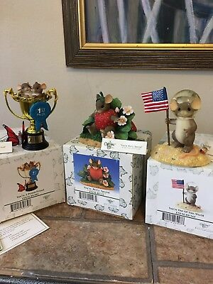 Charming Tails By Fitz And Floyd Lot Of Three Figurine