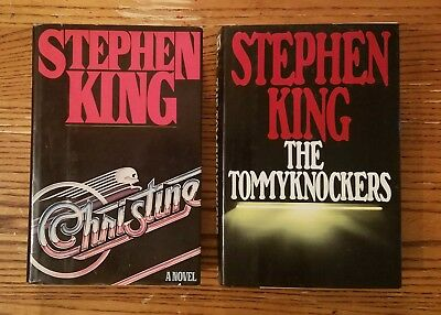 1983 Christine & 1987 The Tommyknockers Stephen King 1st Edition Hardcover Book