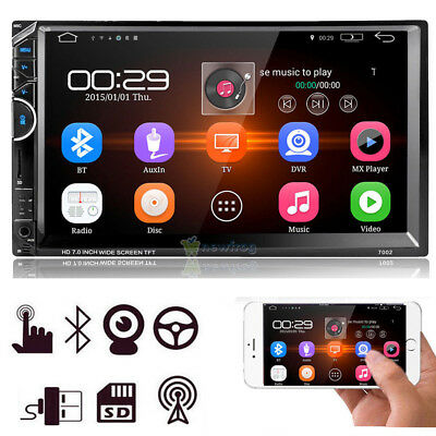 7'' Double 2DIN Car Stereo Radio Bluetooth TouchScreen FM MP5 MP3 USB AUX Player