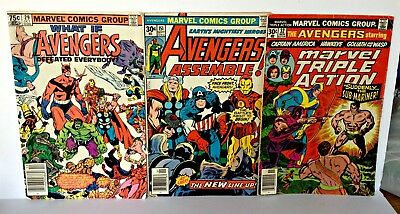 Lot of 5 Bronze Age AVENGERS Comic Books Issues 151 170 Annual 9 PLUS MORE