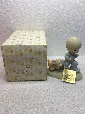 "1979 Enesco Precious Moments ""God's Speed"" Figurine E-3112 Jonathan & David"