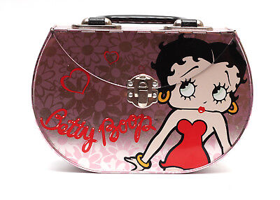 Betty Boop The Tin Box Company Purse Pink 2002 Unique Lunchbox Latch Girly Cute
