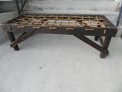 Authentic 1930's Monterey Style, Imperial Wooden Bench With Iron, Orig Finish