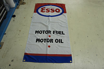 Esso Fules Display Flag ~ station pump banner gas oil garage