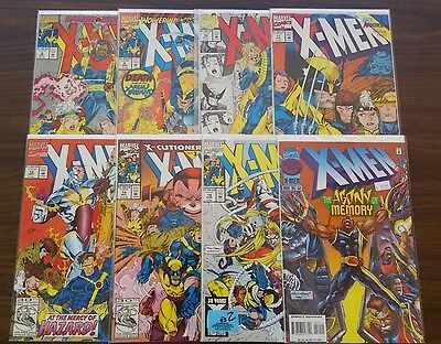 X-Men comic lot, Jim Lee art, 8,9,10,11,12,14,18 & 52