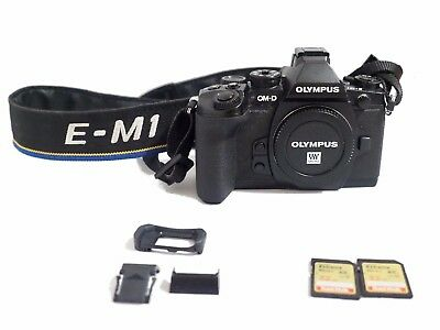 Olympus OM-D E-M1 Black (Body Only) + 2x 32GB + 14 Batteries + 12 Chargers