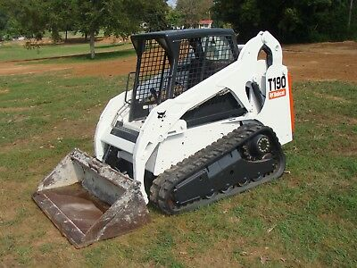 2011 Bobcat T190 Skid Steer Track Loader with Bucket Low hours