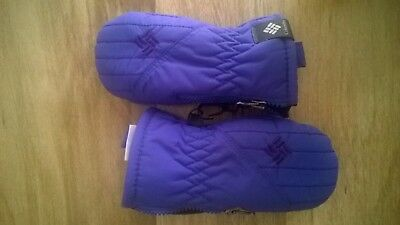 Columbia Chippewa Girl Infant Purple Mittens Gloves Size OS One Size