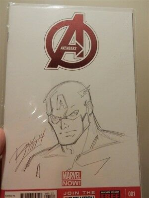 Ron LIm original art Captain America convention sketch Avengers blank variant
