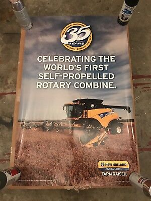 "New Holland 35yrs Twin Rotor Technology Anniversary Poster 23"" X 36"""