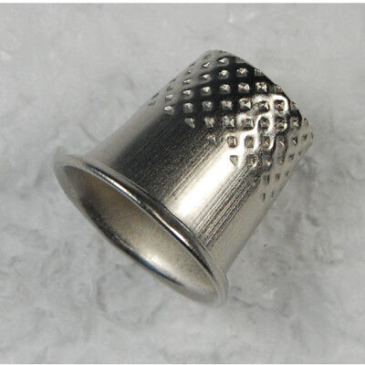 Finger Thimble Sewing Grip Finger Metal Shield Protector For Pin Needle Silver