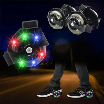 Flash Wheels Colorful Small Swirl Fire wheel Roller Adjustable Flashing 1 Pair