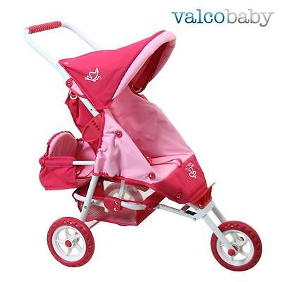 NEW Valco Baby Mini Marathon Doll Stroller with Toddler Seat - Butterfly