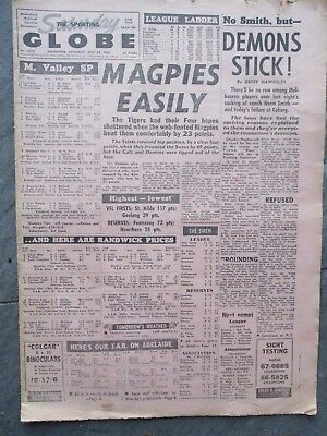 """SPORTING GLOBE - Sat, July 24, 1965, """"Magpies Easily"""""""