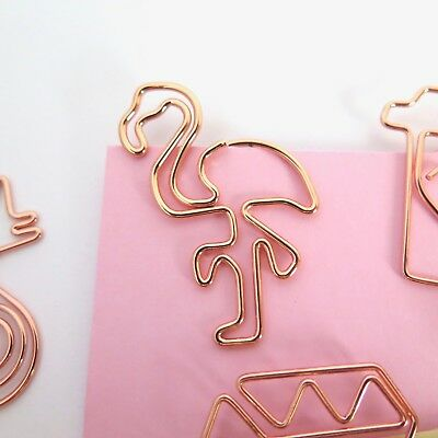 Flamingo Paper Clips Rose Gold Planner Accessories Paperclip Flamingoes Set of 4