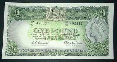 1961 Australia aUNCIRCULATED Coombs/Wilson £1 one pound banknote - aUNC
