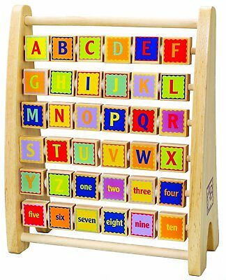 Hape Alphabet Abacus Wooden Learning Toy