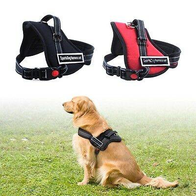 UK Stock Non Pull Adjustable Dog Walking Harness Soft Cozy Pet Harnesse S/M/L