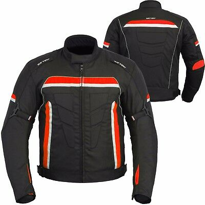 Motorbike Motorcycle Racing Waterproof Cordura Jacket Textile Coat CE Armours
