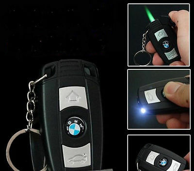 Car key Lighter Windproof Keychain Cigarette Lighter LED flashlight QK