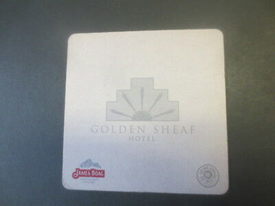 1 only BOAGS BREWERY / GOLDEN SHEAF HOTEL Special Issued  BEER COASTER