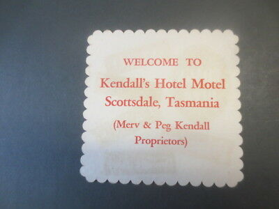 1 only BOAGS BREWERY / KENDALL,S  HOTEL MOTEL Special Issued  BEER COASTER