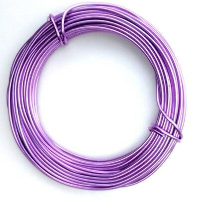 Aluminium Craft Wire MAUVE- 1 Roll 12 mts long 2mm gauge Decorative Florist Wire