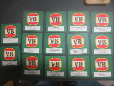 """14 different.VICTORIA BITTER Special  Issued  BEER COASTERS  """"  RARE """""""