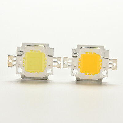 2 / 10x 10W Cool / Warm High Power 30Mil SMD Led Chip Flut Licht Bead1A
