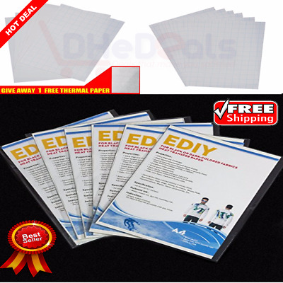 BEST Supply 6 Transfer Sheet Heat Iron On Paper For Printer Fabric Dark Color