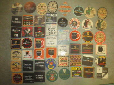 """52  different GUINNESS BREWERY,OVERSEAS  Issue COASTERS """"GLUED"""""""