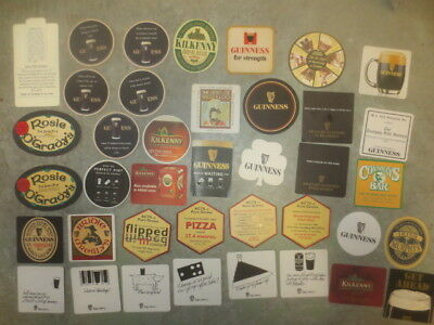 """39 GUINNESS  BREWERY, AUSTRALIAN  Issue COASTERS """"GLUED"""""""