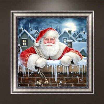 Christmas Santa Claus DIY 5D Diamond Embroidery Painting Cross Stitch Home Decor