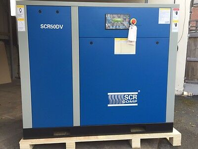 Industrial Air Compressor 37kW 8 Bar Variable Speed SCR Screw Compressor NEW!