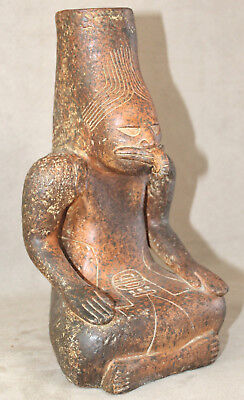 AMAZING Vintage South American Vase in the Shape of a Seated Shaman Figurine