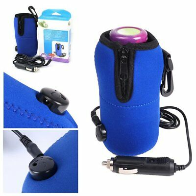 Portable 12V In Car Bottle Warmer Travel Baby Kids Milk Bottle Food Heater Blue