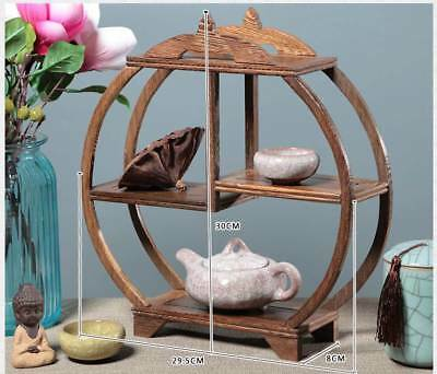 Chinaese Beautiful Wooden Handmade Collection Of Antiques Shelves XY33