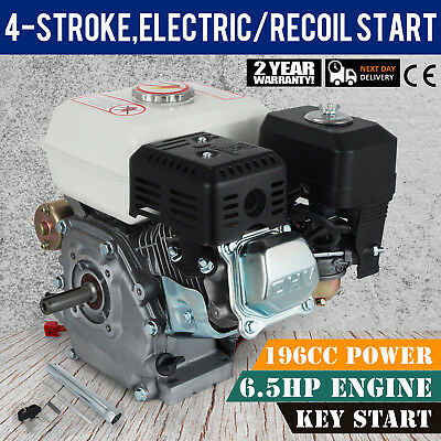 6.5 HP Petrol Engine 4 Stroke Horizontal Shaft Recoil Start OHV Stationary Eng