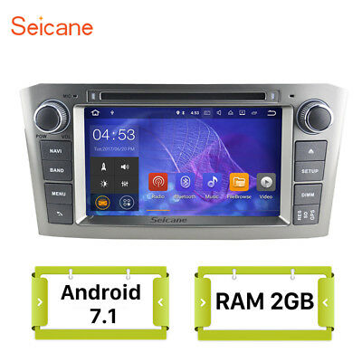 For Toyota Avensis 2005-2007 Android 7.1 Autoradio DVD Player GPS Navi Stereo