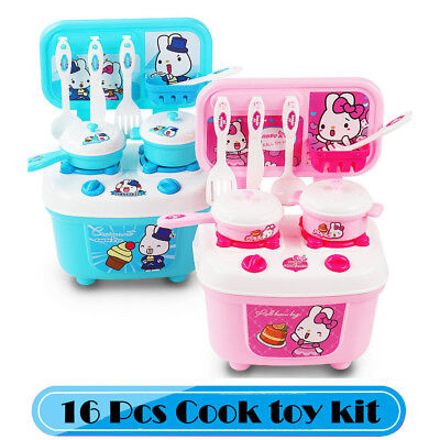 Kids Play House Toys Girl  Tableware Sets Baby Toys Kitchen Cooking