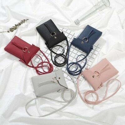 Retro Women Wallet Purse Leather Coin Cell Phone Mini Cross-body Shoulder Bag