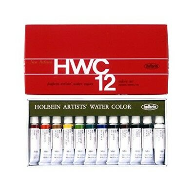 Holbein Artists Transparent Watercolor W401 12 Colors Set 5ml Tubes