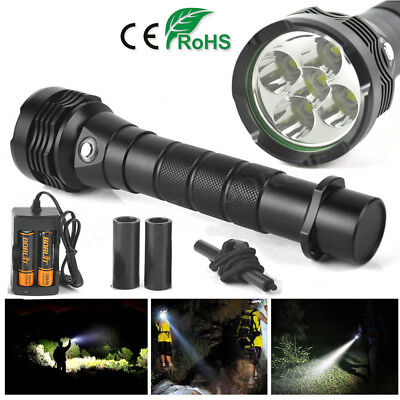 18000LM Underwater 100m XM-L2 5LED Scuba Diving Flashlight Torch 18650 Charger