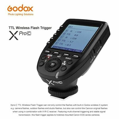 Godox E-TTL II 2.4G Wireless X system High-speed Transmitter Xpro-C For Canon