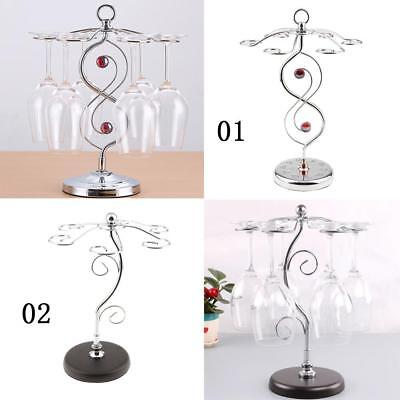 2pcs Wine Cups Rack Glasses Air Drying Holder Shelf Bar Tools Accessories