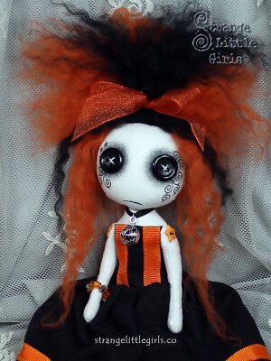 Gothic cloth art doll by Strange Little Girls - Lena Lanternglow