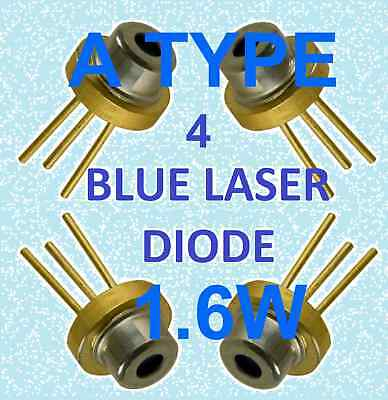 Blue Laser Diode 4 pack   M140 A-TYPE 1.8w  blue beam 445nm  450NM
