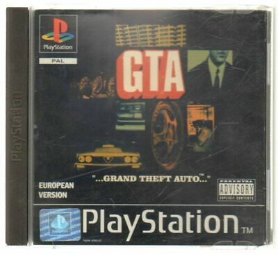 GTA GRAND THEFT AUTO Videogioco PS1 PLAYSTATION PAL ITA Completo di Manuale